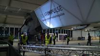 Solar plane ready for take off