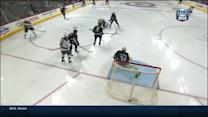 Coyle beats Hutchinson five-hole on the PP