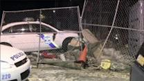 Police officers hurt after cruiser crashes in Strawberry Mansion