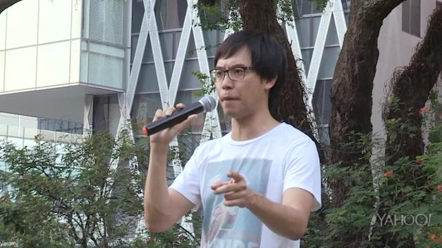 Labour Day 2014 protest at Hong Lim Park