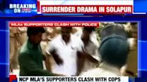 NCP supporters clash with police