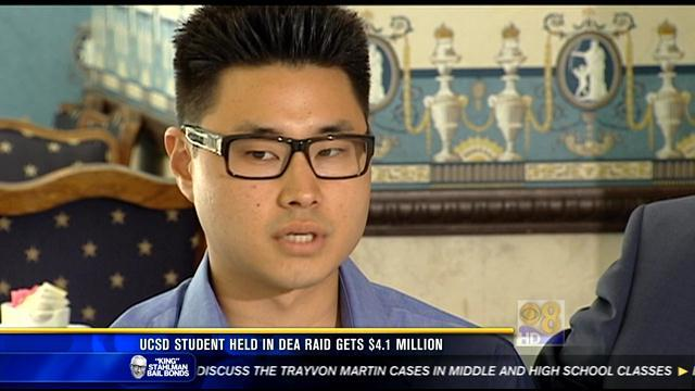 UCSD student held in DEA raid gets $4.1M