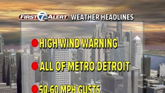 High Wind Warning until 5 AM