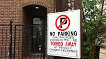 Frustrated residents post no parking signs
