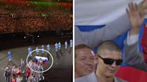 Belarus team flies Russian flag at Paralympics opening in Rio