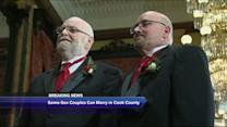 Same sex couples can now marry in Cook County