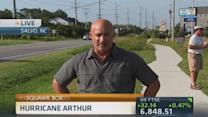 Tracking Arthur's stormy path