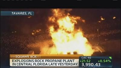 Propane plant explodes in central Florida