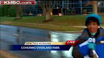 12-inch water main breaks in Overland Park