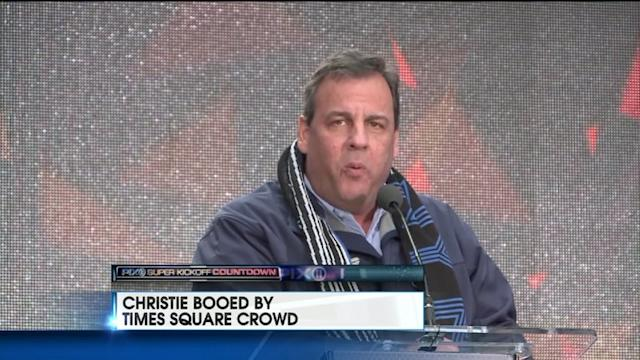 Governor Christie Booed at Super Bowl Boulevard