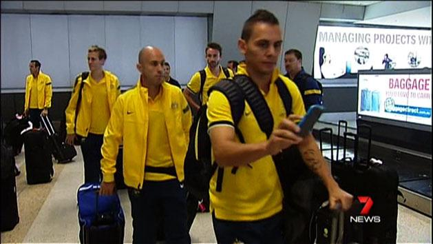 Socceroos back in Melbourne