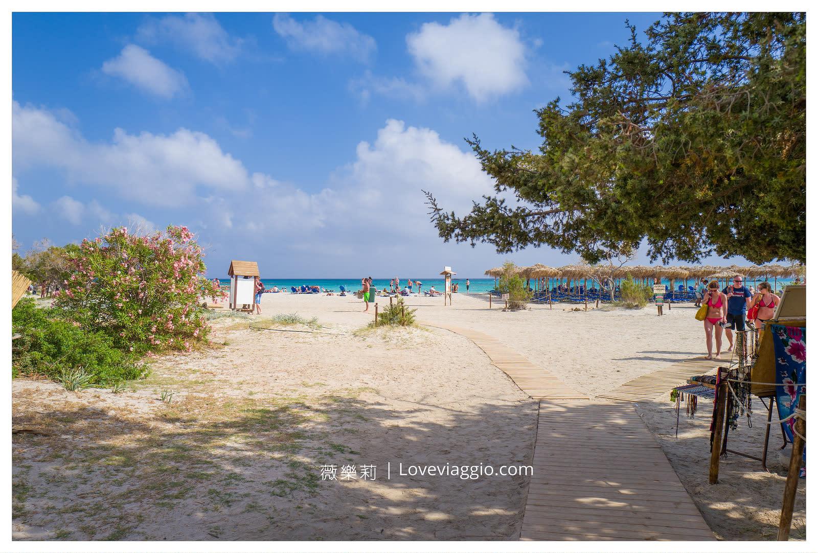 克里特島粉紅沙灘Elfonissi