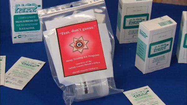 Suffolk County parents receive free alcohol test kits