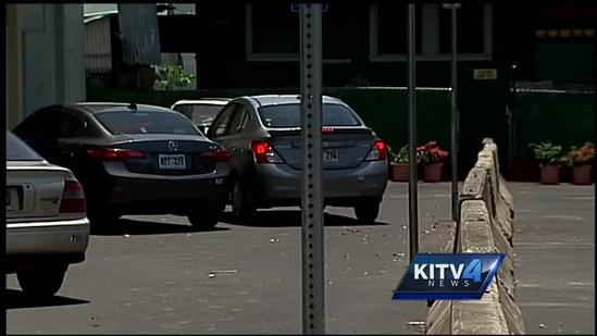 Concrete barriers in Kalihi parking lot cause problems for drivers