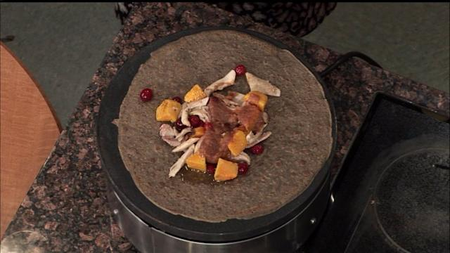 La Boulangerie chef makes turkey, brie and butternut squash crepes