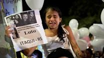 Raw: Deadly Nightclub Fire Protested in Brazil