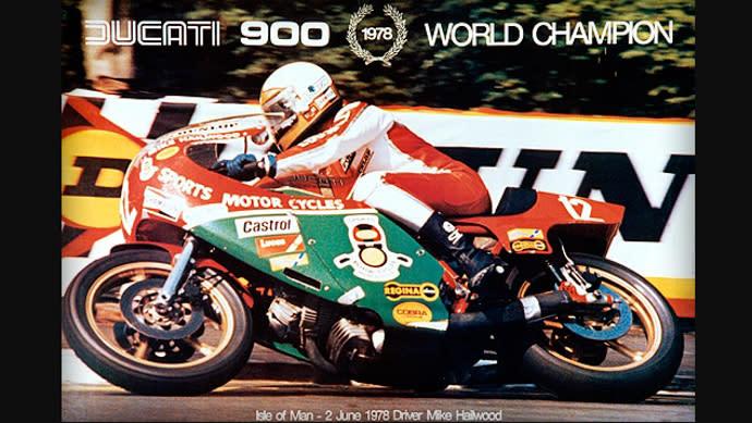 當時Hailwoody拿下曼島TT賽事冠軍的海報。