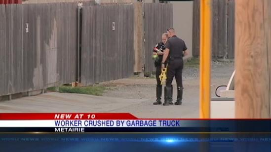 Man crushed by garbage truck in Metairie accident