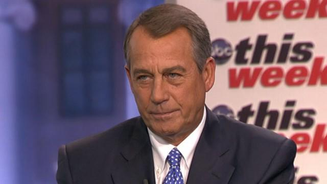 Exclusive: John Boehner on 'This Week'