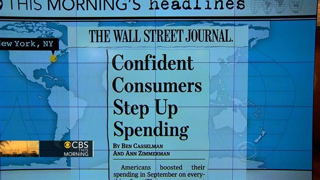 Headlines: Consumers confident and spending more