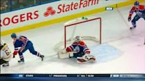 Brad Marchand scores shorthanded on Dubnyk