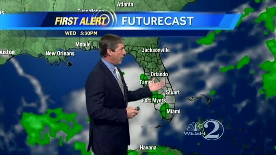 Partly cloudy Tuesday