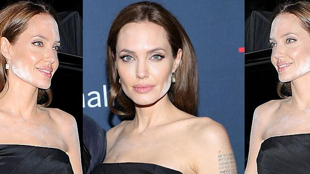 Angelina Jolie Has A Makeup Malfunction