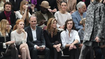 Chastain, Jovovich and More Take in Chanel Show