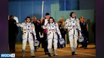 Olympic Torch And Astronauts Arrive At The International Space Station