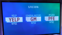 Einhorn's bet on Yelp, Pfizer posts 20% jump; GM's sales miss