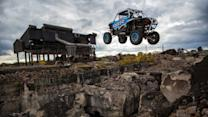Ultimate Custom Off Road Buggy Jumps Through Buildings