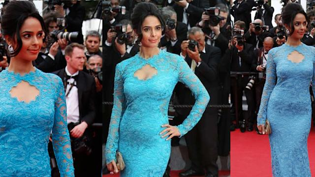 Mallika Sherawat Stuns At Cannes 2014 Red Carpet