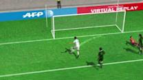 The Goal from Roque Santa Cruz (Malaga) in the 72th minute of the second half.