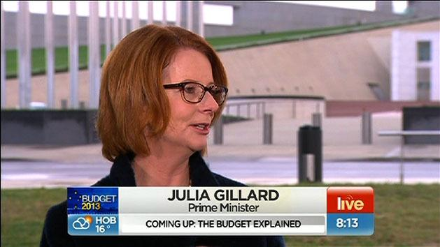 Julia Gillard explains the budget