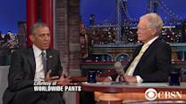 "Obama makes final appearance on ""Late  Show with David Letterman"""