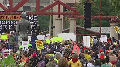 Hundreds Rally Against St. Louis Police Violence