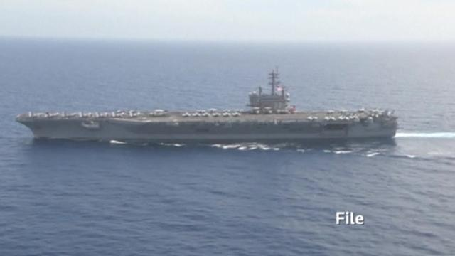 Pentagon orders U.S. aircraft carrier to Gulf