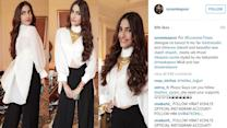 Sonam Kapoor makes black and white combo look colourful on her
