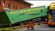 Lucky escape for lorry driver