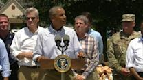 Obama Pledges to Rebuild Louisiana After Flood