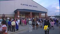 Parents locked out of Clayton High School graduation