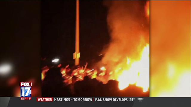 Rioting Erupts Outside Michigan State University Following Spartan Win Over Ohio State University