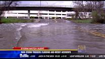 Rain storm triggers flooding and messy accidents