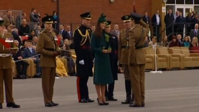 Duke and Duchess of Cambridge attend St Patrick's Day Parade
