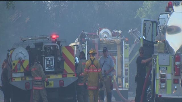 Brush fire in Ruskin scorches 48 acres and burns mobile homes