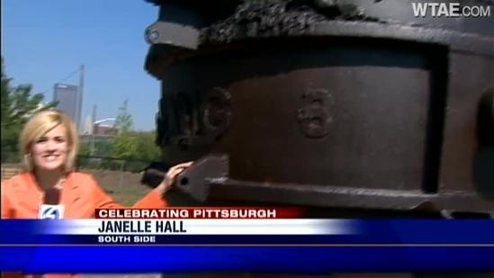Giant steelworkers sculpture arrives on South Side