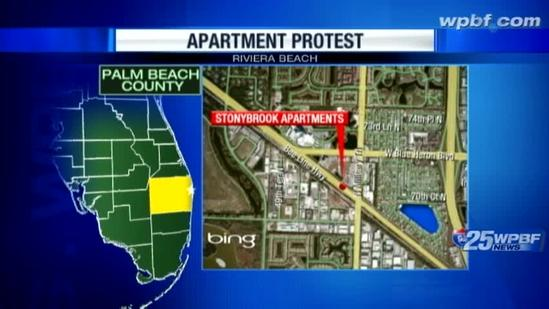 WPBF 25 News tours Stonybrook Apartments