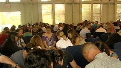 Church Members Gather To Pray For Shooting Victims