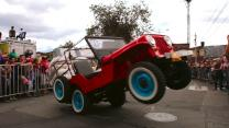 Overloaded Jeeps Perform Wheelies Through Streets of Colombia