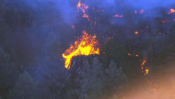 Firefighters battling four wildfires in the North Bay